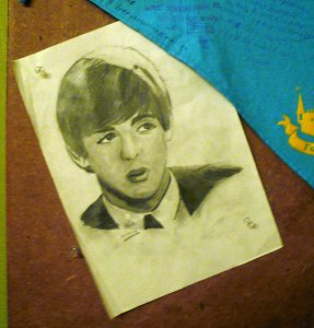 А это - первый среди этой серии портретов Битолс.