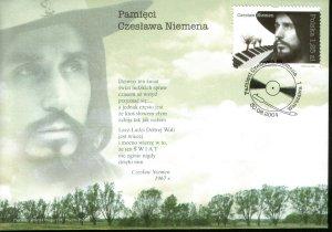 Не только видео, газетные вырезки, пластинки или компакт-диски напоминают о музыке Мастера - конверт и почтовая марка выпущенные в августе 2004-го посвещены памяти Чеслава Немена.