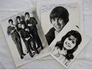The Beatles autographed photographs were sent to Ann Bartlett, the girl pictured, who was just 16 when she died from leukaemia in the 1960s.