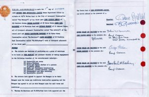 The 1962 contract signed by John Lennon, George Harrison, Paul McCartney and Ringo Starr for manager Brian Epstein before they became famous as The Beatles is up for grabs in a pay-to-enter competition.
