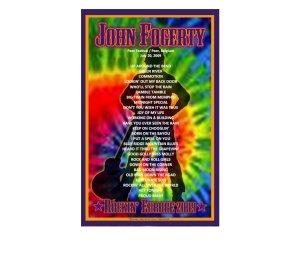 20 июля я тоже был на концерте Джона... Случилось это в Бельгии, в рамках фестиваля Belgium Rhythm'n'Blues Festival. Впечатления от выступления просто потрясающие. Я до сих пор не могу прийти в себя. Джон порвал публику на клочки, а потом еще и в пыль развеял. Все 15 000 тыс. народу пели, прыгали, оттягивались на полную катушку, впрочем как и сами музыканты. Фогерти в великолепной форме, выглядит и слушается еще покруче, чем на DVD Premonition и The Long Road Home. Сетлист был как для меня создан.... В последних турах в сетлистах его концертов обычно постоянно присутствует процентов 70 песен, а остальные ротируются. Так вот среди ротируемых и исполненных на нашем гиге оказались любимейшие с давних времен I Put A Spell on You и I Heard It Through the Grapevine. А всего у нас концерт шел 2 часа и было исполнено 26 песен. Самому Джону публика очень понравилась и он на бисе сделал не две песни, а три. Короче я был в полнейшем восторге. Сетлист рядышком.