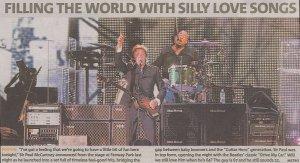 Фотография с концерта с кратким комментарием (Metro Boston, Aug 6, 2009)