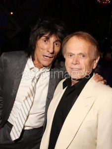 CLEVELAND - APRIL 04: Ron Wood of the Rolling Stones (L) and Al Jardine of the Beach Boys attend the 24th Annual Rock and Roll Hall of Fame Induction Ceremony at Public Hall on April 4, 2009 in Cleveland, Ohio.