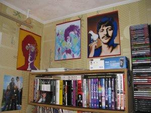 Портфолио группы «Beatles», - четыре фотографии психоделических цветов в духе Уорхолла, сделанные на пике славы группы в 1960-ых годах - отличные фото!