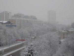 А у нас в Москве зима)) Ночью снег выпал)