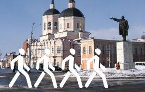 Это гениальная идея — фигуры битлов, идущих гуськом, на фоне хоть чего :)