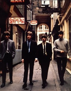 1963, July 2, The Beatles in Rupert Court (Soho, W1) by Dezo Hoffman
