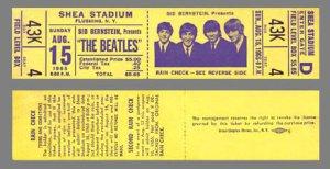 Билет на этот концерт битлов 1965 года!