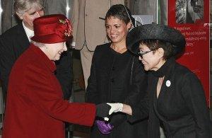 Queen Elizabeth II meets Yoko Ono