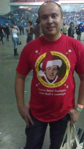 И еще один - на футболке