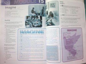 следующая часть учебника английского языка - pre-intermediate - уже целый разворот посвящён Imagine