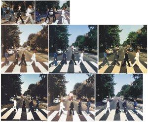 Кстати, почему написано, что снято было в тот день 6 кадров? Вот только на зебре - 8, и есть еще масса ДПДР, стоящих на тротуаре и сидящих на ступеньках студии Эбби Роуд.