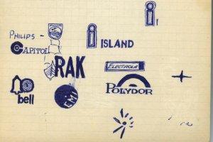 Это, помнится ко мне друг зашел, т.с. продвинутый по тем временам меломан и, объясняя мне какие грамофонные фирмы были престижные тогда, нарисовал мне эти значки... )))