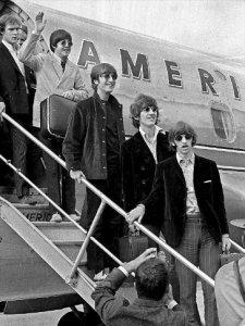 1966 18 августа. Битлз прибывают в Бостон.