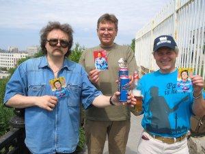 Я, Сергей и Владимир Иванович Попов.