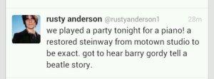 Расти Андерсон о событии...
