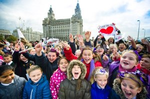 At 11.50am UK time today the people of Liverpool smashed a Guinness World Record and in doing so celebrated the 50th anniversary of the release of the Beatles debut single 'Love Me Do' in unique style.