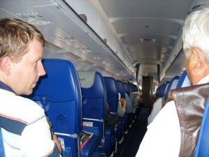 В самолёте...