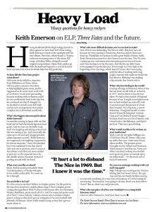 Свежее интервью Кейта Эмерсона. Британский Classic Rock за февраль 2013.