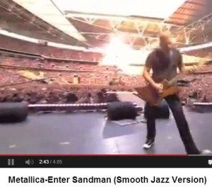 Enter Sandman (Metallica) в джазовой обработке.