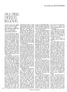 Эссе Джона Боуэрса All She Needs Is Love из августовского номера Playboy за 1970 год. За три месяца до смерти певицы.