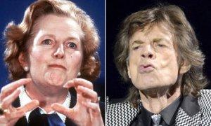 Mick Jagger's admiration for Margaret Thatcher