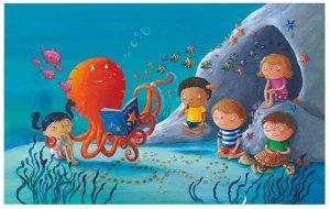 Первая иллюстрация к детской книге Ринго Старра Octopus's Garden опубликована в интернете. Эксклюзивное изображение было обнародовано на странице музыканта в  Facebook . Автором картинки является художник Бен Корт.