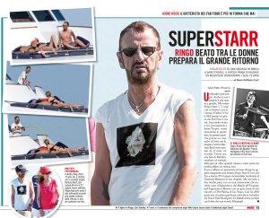 Ринго отдыхает в Сен-Тропе перед началом тура. Фото из еженедельника OGGI, датированного 4 сентября этого года.