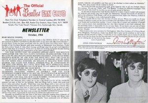 Октябрь 1966, BMB № 39. Секретарь фан-клуба Битлз Энни Колингэм представляет публике нового со-секретаря клуба Фреду Келли.