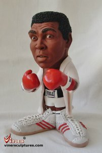 Caricature sculptures by Mike K. Viner Muhammad Ali