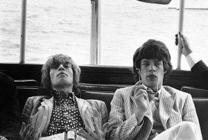 Брайан Джонс и Мик Джаггер в Нью-Йорке в 1966 году.