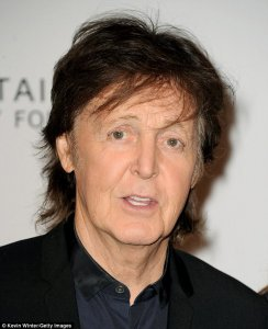 Paul McCartney swaps singing for acting as he takes to the stage with Tom Hanks at star-studded Shakespeare charity reading