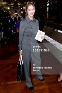 Barbara Bach photographed at Stella Mccartney's Spring/Summer 2014 show in Paris, France. (September 30th 2013)