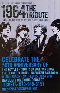 15 февраля 2014 года в отеле Deauville в Майами-Бич состоится концерт группы 1964 The TRIBUTE в честь 50-летия выступления Beatles на Шоу Эда Салливана в этом отеле 16 февраля 1964 года.