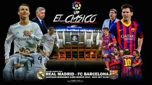 FT: Real Madrid 3-4 FC Barcelona (20', 24' Karim Benzema, 55' Ronaldo | 7' Iniesta, 42', 65', 84' Messi).