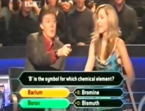 Who Wants To Be A Millionaire? Paul McCartney   http://www.youtube.com/watch?v=tVjkyxPvi5k