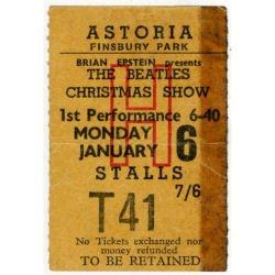 Билет на первое представление 6-го января 1964.