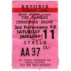 Билет на второе представление 11-го января 1964.