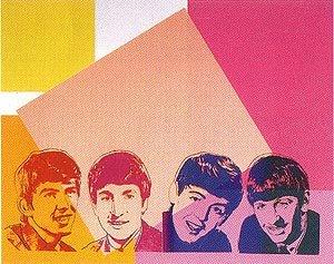 Artist: Andy Warhol  Title: Beatles Multicolor  Size: 100 x 80cm