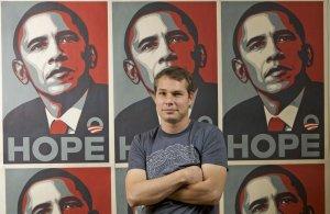 Самой знаменитой работой Фейри на данный момент является предвыборный плакат для Барака Обамы под названием Hope (Надежда).