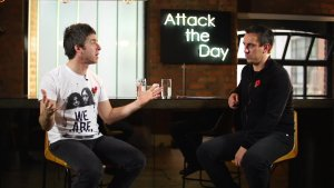 Noel Gallagher in conversation with Manchester United legend Gary Neville before Sunday's derby