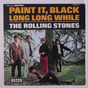 И бонус - удобно расположившийся Кит на обложке 'THE ROLLING STONES - Paint It, Black / Long Long While' (FRANCE)