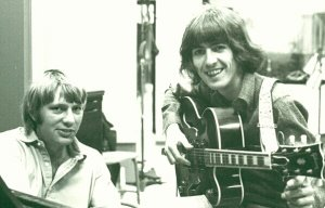 * - Larry Knechtel and George Harrison at Sound Recorders Studios in 1968.