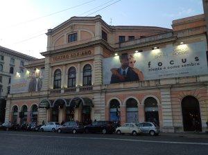 А потом поехал вот сюда. Teatro Adriano.