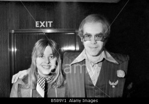 Music week 1974 Awards Suzi Quatro and Elton John. Februar