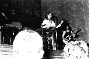 Singer Suzi Quatro in concert at Newcastle City Hall, November 4, 1972.