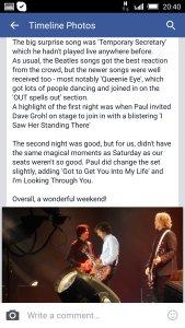 Telegraph: концерт Маккартни на O2 Arena 23 мая 2015 года стал кружащим голову мастер-классом