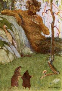 Прижизненная иллюстрация к главе The Piper At The Gates Of Dawn, опубликованная в 1913 году и тоже широко известная. Похоже, что волынщик - это не очень точный перевод.