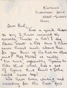 Обращают на себя внимание несколько строчек письма Джорджа (в самом начале), где он пишет примерно следующее: