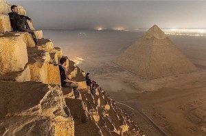 Вид с пирамиды Хеопса, Египет